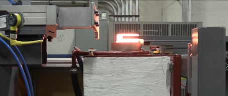 Steel rings heated with induction prior to forging